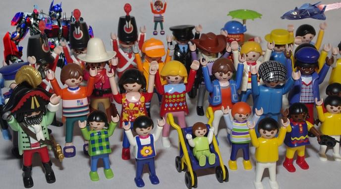 Playmobilfigurer från 70-talet